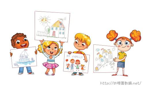 幼稚園で絵をかきました。幼稚園教諭免許の種類