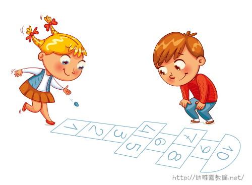 ゲームをして遊ぶ男の子と女の子
