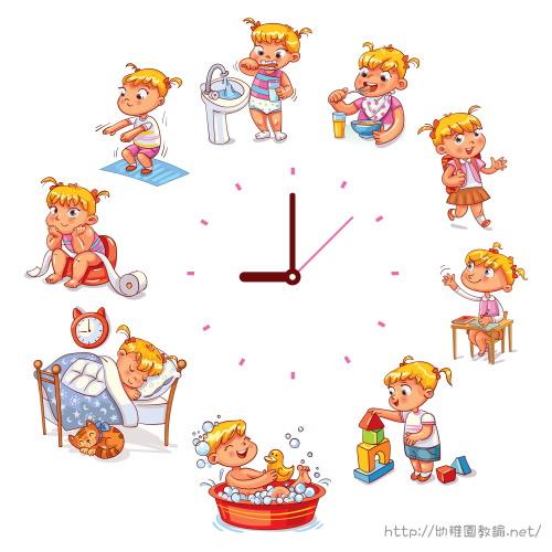 幼稚園5歳女の子、1日のスケジュール表