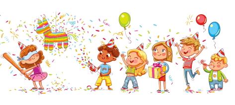 お誕生日会で盛り上がる幼稚園児