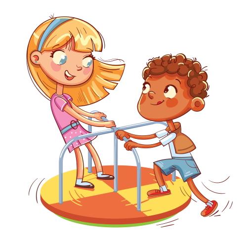 小学校の校庭で遊ぶ小学3年生。小学校の先生の資格も取りたいな。
