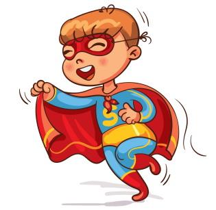 スーパーマン・スーパーヒーローになった男の子