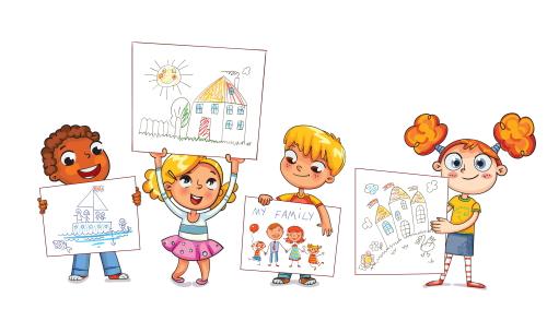 絵が上手な幼稚園児。幼稚園教諭の就職・求人